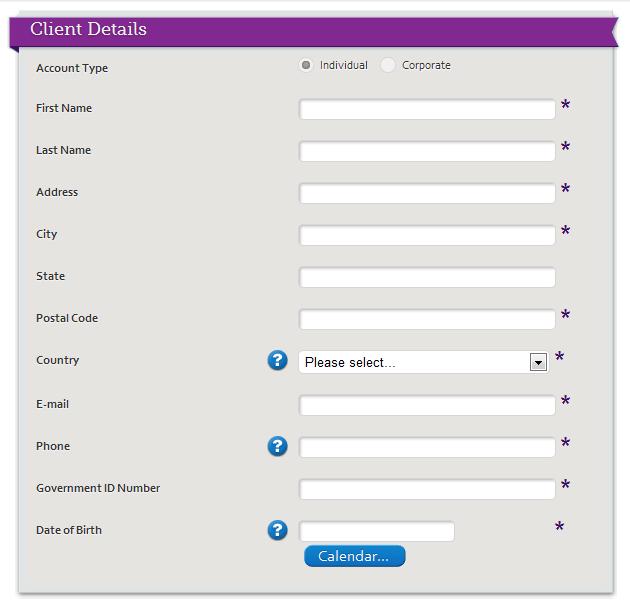 Detaily klienta forex založení účtu