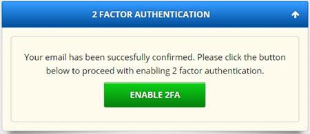 FreeBitco.in 2FA - Enable dvoufaktorové přihlašování