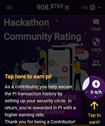 Pi Network Coin kliknete a těžíte